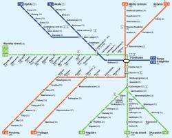 Metro w Sztoklolmie mapa