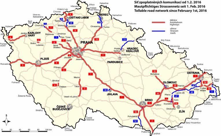płatne autostrady w Czechach