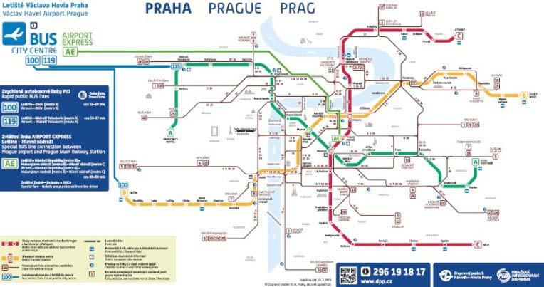 komunikacja miejska w Pradze - mapa