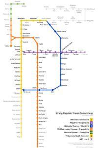 Manila komunikacja miejska (LRT i MRT) - mapa