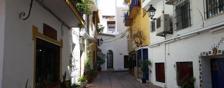 Typowa uliczka w Maladze