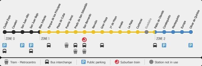 metro w Sewilli - mapa