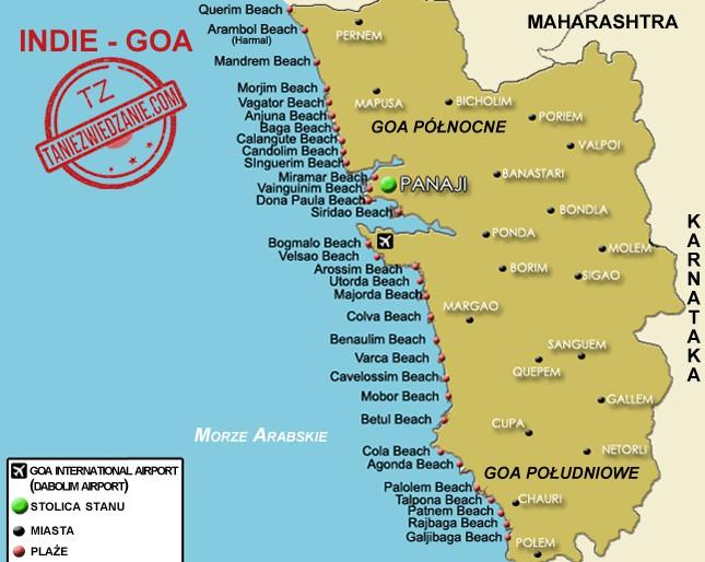 Mapa Goa