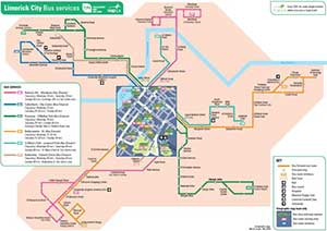 autobusy w Limerick mapa
