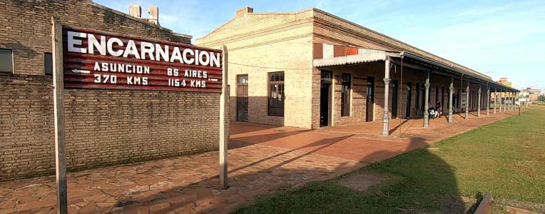 Encarnacion, Paragwaj, dworzec główny