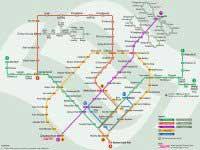 Komunikacja miejska w Singapurze mapa