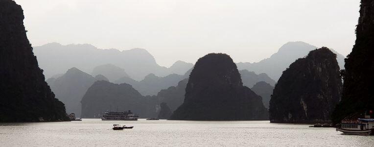 Zatoka Halong w Wietnamie