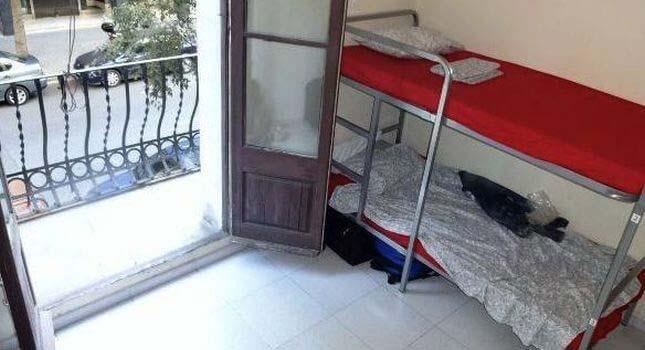 Barcelona - mój pokój w hostelu