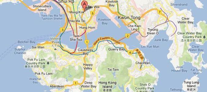 Mapa Hong Kongu