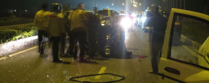Wypadek samochodowy w Delhi