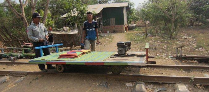 bambusowy pociąg Kambodża