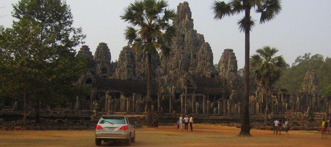 Bayon w Angkor w Kambodży