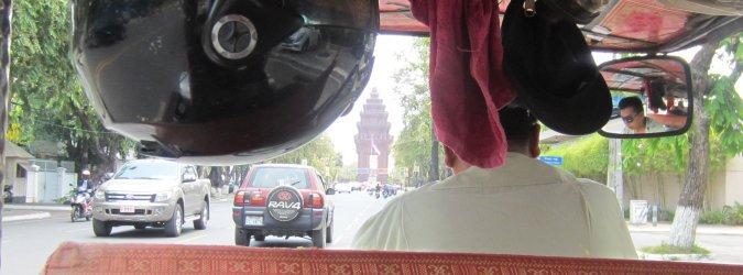 Phnom Penh widok z tuk tuka