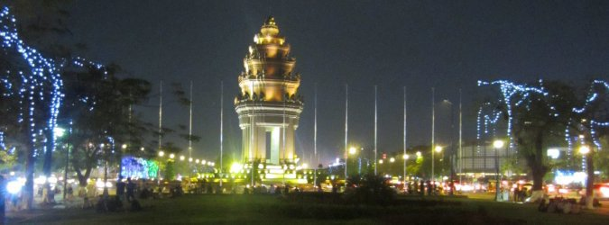 Independence Monument w Phnom Penh