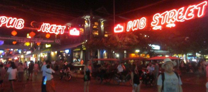 Pub Street w Siem Reap