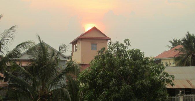 Siem Reap zachód słońca