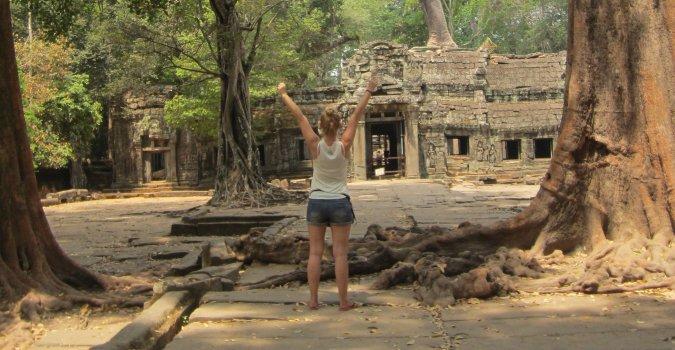Świątynia Ta Prohm w Angkor w Kambodży