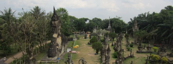 Buddha Park w Laosie