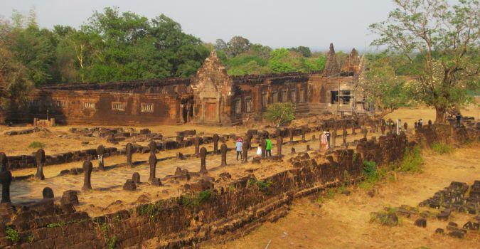 Ruiny Wat Phou w Laosie