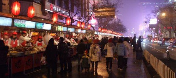 Targ Donganmen w Pekinie