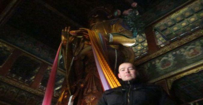 Rzeźba w Lama Temple