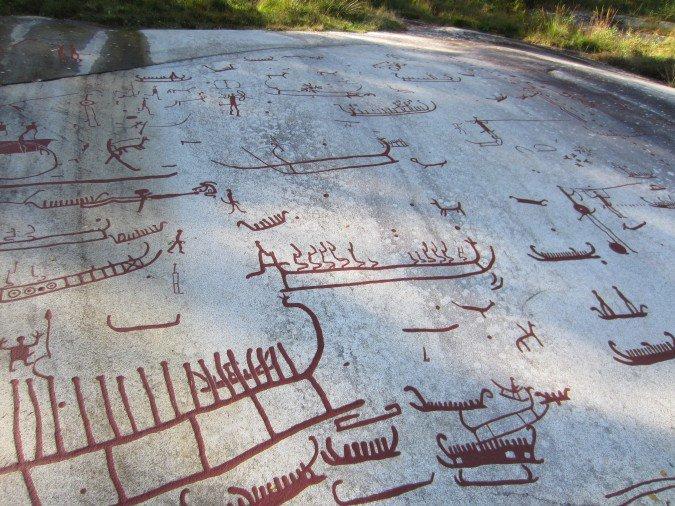 Tanum - Szwecja - rysunki z epoki brązu