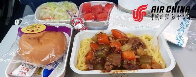 Air China jedzenie