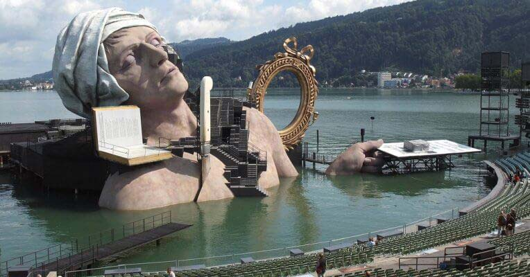 Wodna scena w Bregencji
