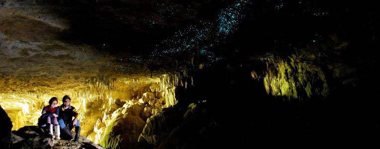 Glow Worm Caves w Nowej Zelandii