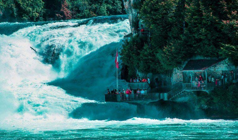 Rheinfall w Szwajcarii
