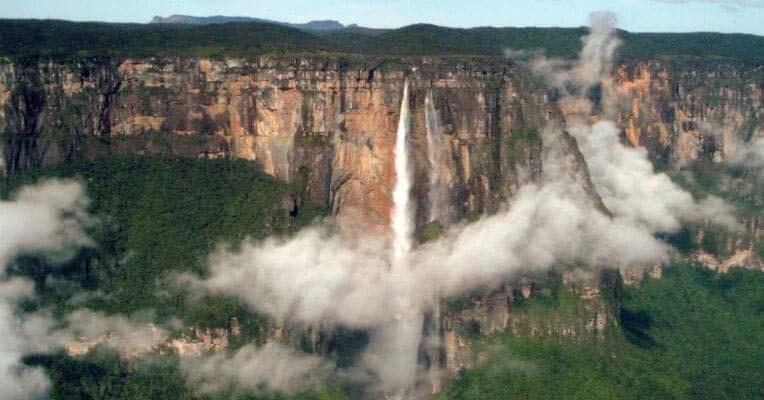 Wodospad Salto Angel w Wenezueli